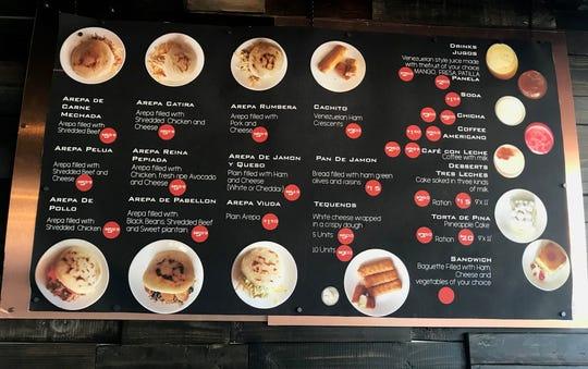 The menu posted at VeneBites.