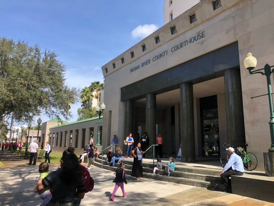 The Indian River County Courthouse was evacuated Feb. 4, 2020, after a building-wide fire alarm went off.