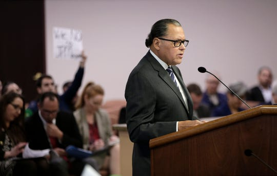 Texas Sen. Jose Rodriguez urges City Council to delay the vote on transferring El Paso Electric's franchise to the JPMorgan Chase-tied investment fund in the process of buying the utility.