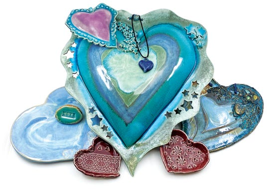 Ventura County Potters' Guild will host a special Love Local Art exhibit outside its gallery at Ventura Harbor 1-4 p.m. Feb. 8-9. Guild artists will also sell heart art in time for Valentine's Day.