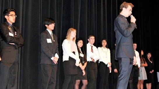 """Students from 15 high schools participated in the 2020 Ventura County Acaedmic Decathlon, which had the theme, """"In Sickness and in Health: An Exploration of Illness and Wellness."""""""