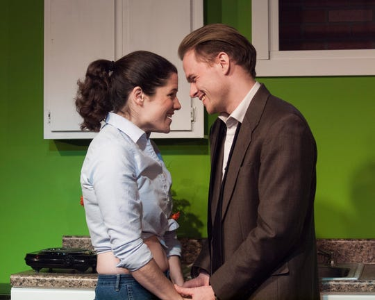 """Lauren Silverman as Corie and Wil Anderson as Paul in Clove Creek Dinner Theater's production of """"Barefoot in The Park."""