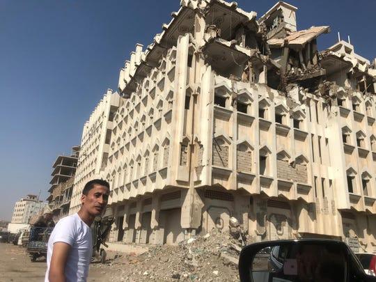 Anwar Alomaisi was deported back to war-torn Yemen, where this photo was taken, last week.
