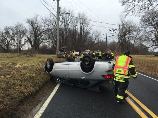 The 3100 block of Mill Creek Road is currently closed due to a single-vehicle rollover crash, which left at least one person injured.