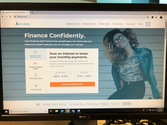 The LendEDU website as it appeared on Feb. 4. LendEDU has agreed to pay $350,000 to settle FTC allegations. The company was founded by two University of Delaware students.