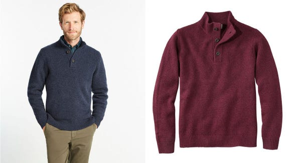 This charming sweater is ideal for layers.