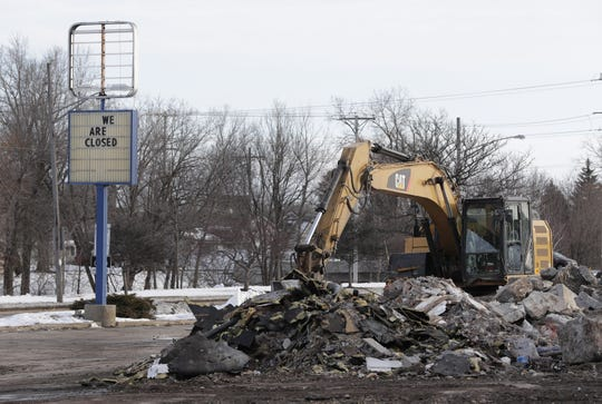 A pile of rubble and a sign are all that remain of the former Burger King restaurant at 977 S. Green Bay Road in Neenah. The site will be redeveloped, with the city's help, by Keesler Orthodontics.