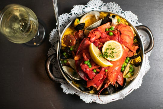 The Point Lobster Boil, made with seafood and chorizo, at Point Lobster Bar & Grill in Point Pleasant Beach.