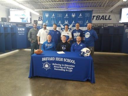 Brevard senior Luke Dodson signs to play college football at Brevard College.
