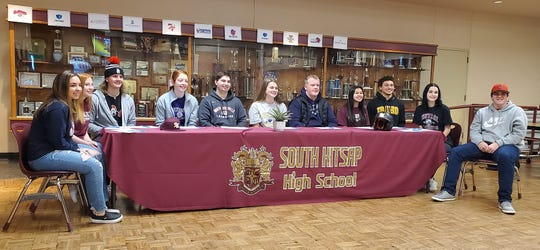 South Kitsap athletes gathered for Wednesday's college signing ceremony at the high school.