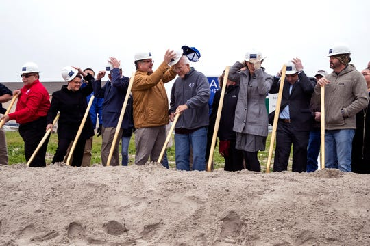 The City of Port Aransas celebrated the groundbreaking of the Port Aransas Chamber of Commerce building on Wednesday, February 5, 2020. Destroyed by Hurricane Harvey in 2017, the new chamber building is expected to open mid-August.