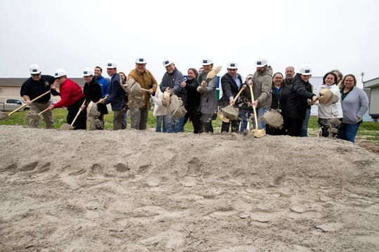 The city of Port Aransas celebrated the groundbreaking of the Port Aransas Chamber of Commerce building on Wednesday, Feb. 5, 2020. Destroyed by Hurricane Harvey in 2017, the new chamber building is expected to open mid-August.