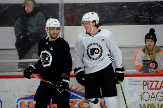 Nolan Patrick rejoined the Flyers for practice Wednesday, but a return to the lineup doesn't appear to be imminent.
