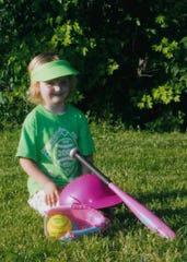 Even with one eye,  Alexis Bailes growing up has played multiple sports that included cheerleading and t-ball.
