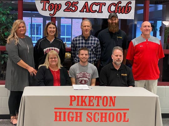 Piketon's Jarrett Klinker signed with Shawnee State University on Feb. 4, 2020. Klinker is one of several local runners who have committed to SSU for the 2020/2021 college year.