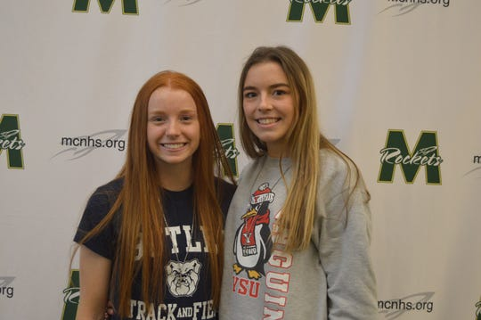 McNicholas athletes Jillian Vogler and Rachel Jeffries signed their letters of intent to play college sports Feb. 5.  Vogler will run track for Butler University and Jeffries will run track for Youngstown State University.