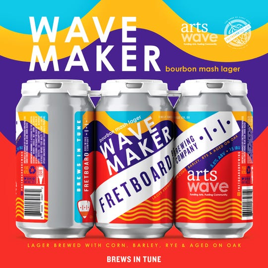 This year, you can support local art by drinking beer. Fretboard Brewing Company and ArtsWave have teamed up to make a new lager.