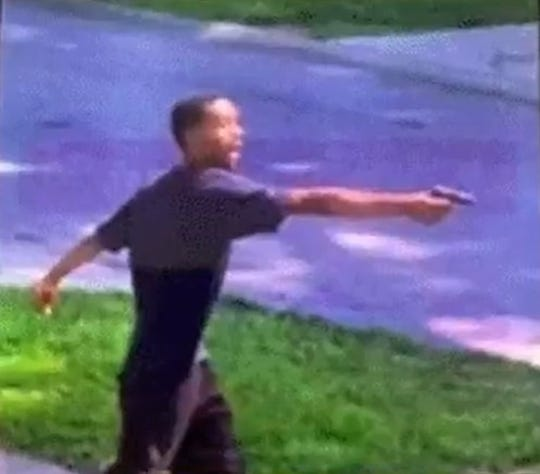 """Screenshot of a teen police said is Devonta Allen, firing multiple shots at four people in Kennedy Heights on July 25, 2019. According to court documents, Allen shouted: """"I don't like white people in my 'hood."""""""