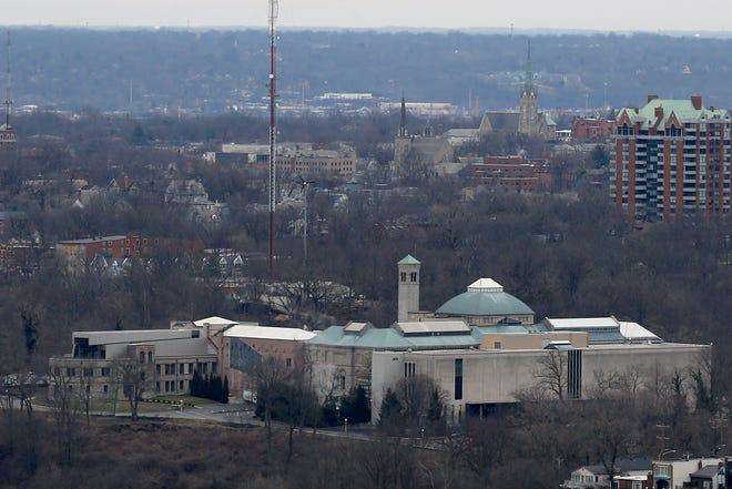 The Cincinnati Art Museum in Mt. Adams as seen from the observation deck of Carew Tower in downtown Cincinnati on Wednesday, Feb. 5, 2020.