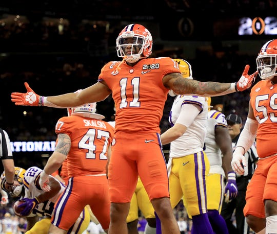 7. Carolina Panthers: LB/S Isaiah Simmons, Clemson – He's not a perfect replacement for the recently-retired Luke Kuechly, but he's an amazing do-everything talent.