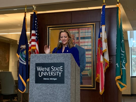 Secretary of State Jocelyn Benson speaks on maintaining and building on the legacy of Judge Damon J. Keith, who passed last year.