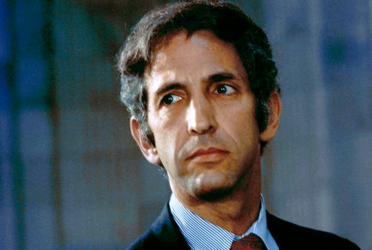 FILE - This May 18, 1973, file photo shows Daniel Ellsberg, the former government consultant who in 1971 released the Pentagon Papers that exposed the deceit of American policymakers during the Vietnam War.