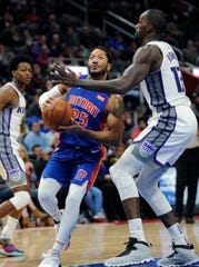 Pistons guard Derrick Rose is averaging 18.5 points per game.