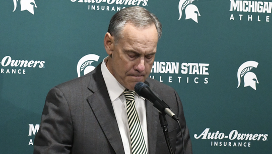 Mark Dantonio announced he's stepping down as head coach during a news conference at the Breslin Center in East Lansing.