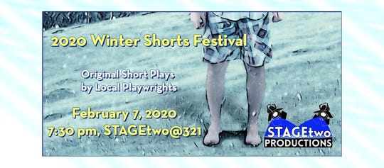STAGEtwo Productions is producing for one night only a short play festival, 2020 Winter Shorts Festival, featuring local playwrights.