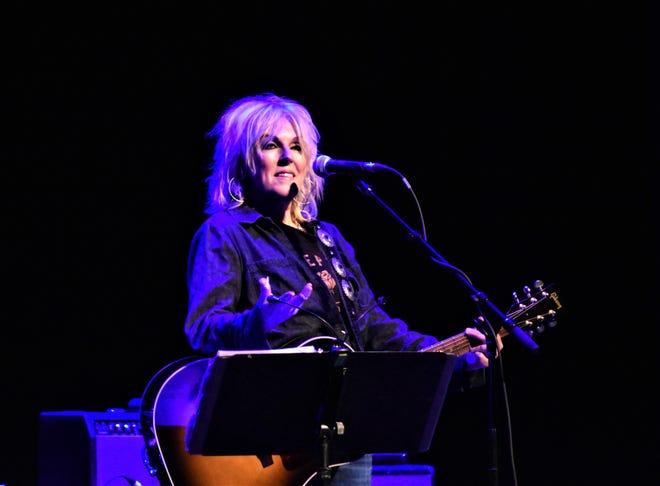 Lucinda Williams performed Tuesday at Barbara B. Mann Performing Arts Hall.