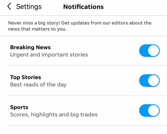 Set up your push alert notifications on The News-Press app.