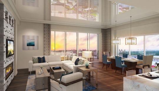 Interior rendering of Grandview at Bay Beach.