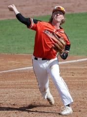 West De Pere's Cameron Dupont makes a throw during the WIAA Division 2 state tournament in June.