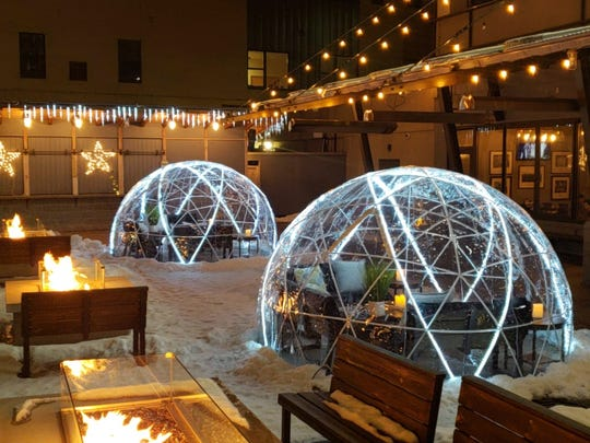 Hagemeister Park debuted its two Riverside Igloos on Wednesday. Each has room for up to eight people and is available to rent for 90 minutes with special food and drink packages.