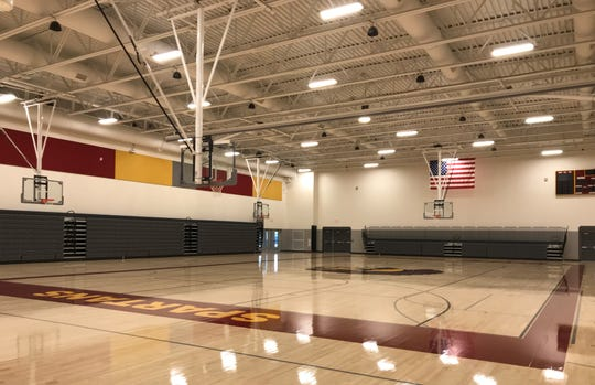 The new, 1,450-seat gymnasium at Luxemburg-Casco High School was unveiled to the public in a Jan. 26 dedication ceremony.