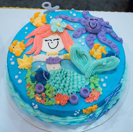 Candice Gumm's sea life design done during Dairy Queen's biennial contest to name the company's best cake decorator.