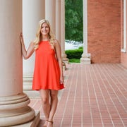 """Maggie Payne (pictured), Clemson University Class of 2016, lost her class ring her last semester of school. After weeks of searching for it, she """"chalked it up as a loss"""" and ordered a new one. Last month, PhD students Catherine Kenyon and Leah Wiitablake found Payne's ring right where she'd dropped it four years ago."""
