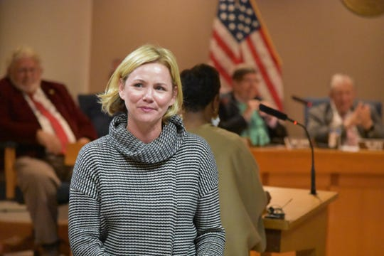Jen Holly of Greer, Greenville News Community Hero for January 2020, was honored Tuesday by the Greenville Federal Credit Union, The Greenville News, and the Greenville County Council.