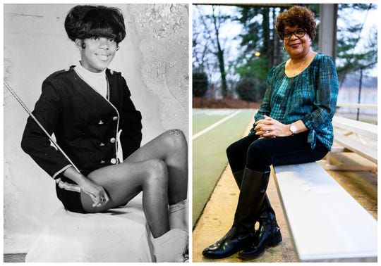 Donna Byers poses for a portrait at the Nicholtown Community Center. Byers was a majorette in the Beck High School marching band. She was in ninth grade at Beck and was transferred in 1970 to Northwood Middle School. The next school year, she transferred to Wade Hampton and then J.L. Mann.