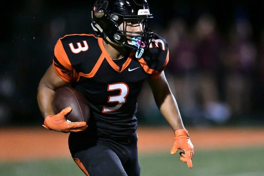 Bailor Hughes (3), a running back from Powell High in Knoxville, Tennessee, has signed to play wide receiver at Furman University, the school announced Wednesday.