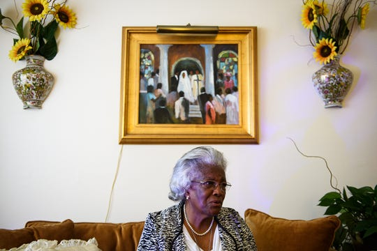 Pearlie Harris reminisces about being a teacher at segregated schools in Greenville in her living room Monday, Jan. 6, 2020. Harris was later taught at Creston, an all-white school, in 1968. She was the only black teacher until Greenville County schools officially integrated in 1970.