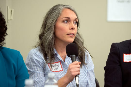 Courtney Durrett, County Commission candidate for District 2 during the League of Women Voter's candidate forum on Tuesday, February 4, 2020.