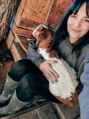 """Angela Chandler has been learning about the livestock she has rescued, including 'newbie"""" Mabel. Feb. 2, 2020"""