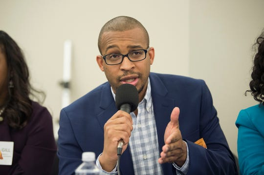 Reginald M. Jackson, County Commission candidate for District 1 during the League of Women Voter's candidate forum on Tuesday, February 4, 2020.