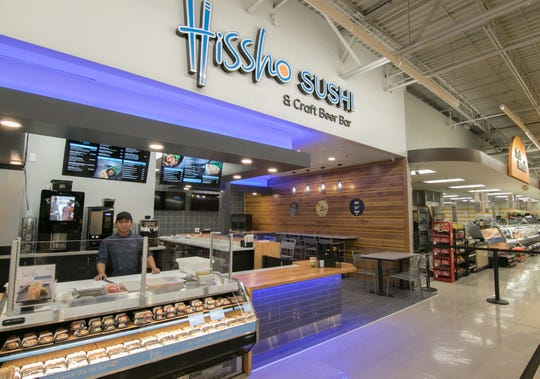 Gan Hpung, franchisee of Hissho Sushi & Craft Beer Bar inside the Brighton Meijer store, said Wednesday, Feb. 5, 2020 he is excited to run the company's first Hissho Sushi & Craft Beer Bar and interact with customers face-to-face.