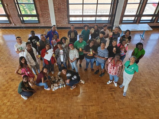 Students gather on Community Service Day 2019 for YMCA Black Achievers.