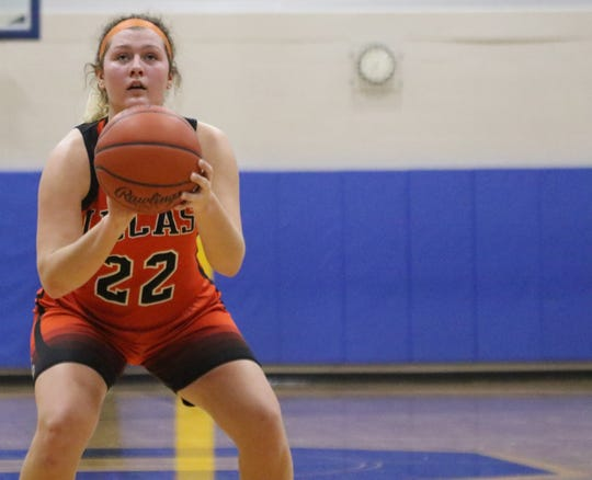 Lucas senior Jessie Grover scored 11 points in a win over Ontario on Tuesday night.