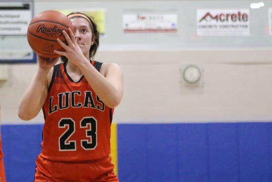 Lucas' Paige Arnold was named first team All-Mid-Buckeye Conference.