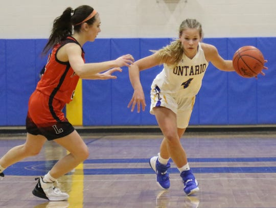 Ontario's Macy Mangan has the Lady Warriors at No. 7  in the Richland County Girls Basketball Power Poll.