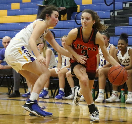 Lucas freshman Shelby Grover scored 11 points including three big 3-pointers in a win over Ontario on Tuesday night.